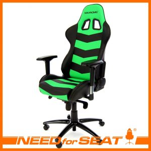 computer gaming chair thunderbolt green