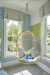 cool kid chair swing in room