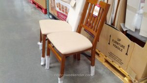 costco folding chair stakmore solid wood folding chair with padded seat costco