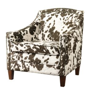 cow print chair brown white cow microfiber accent chair cac b