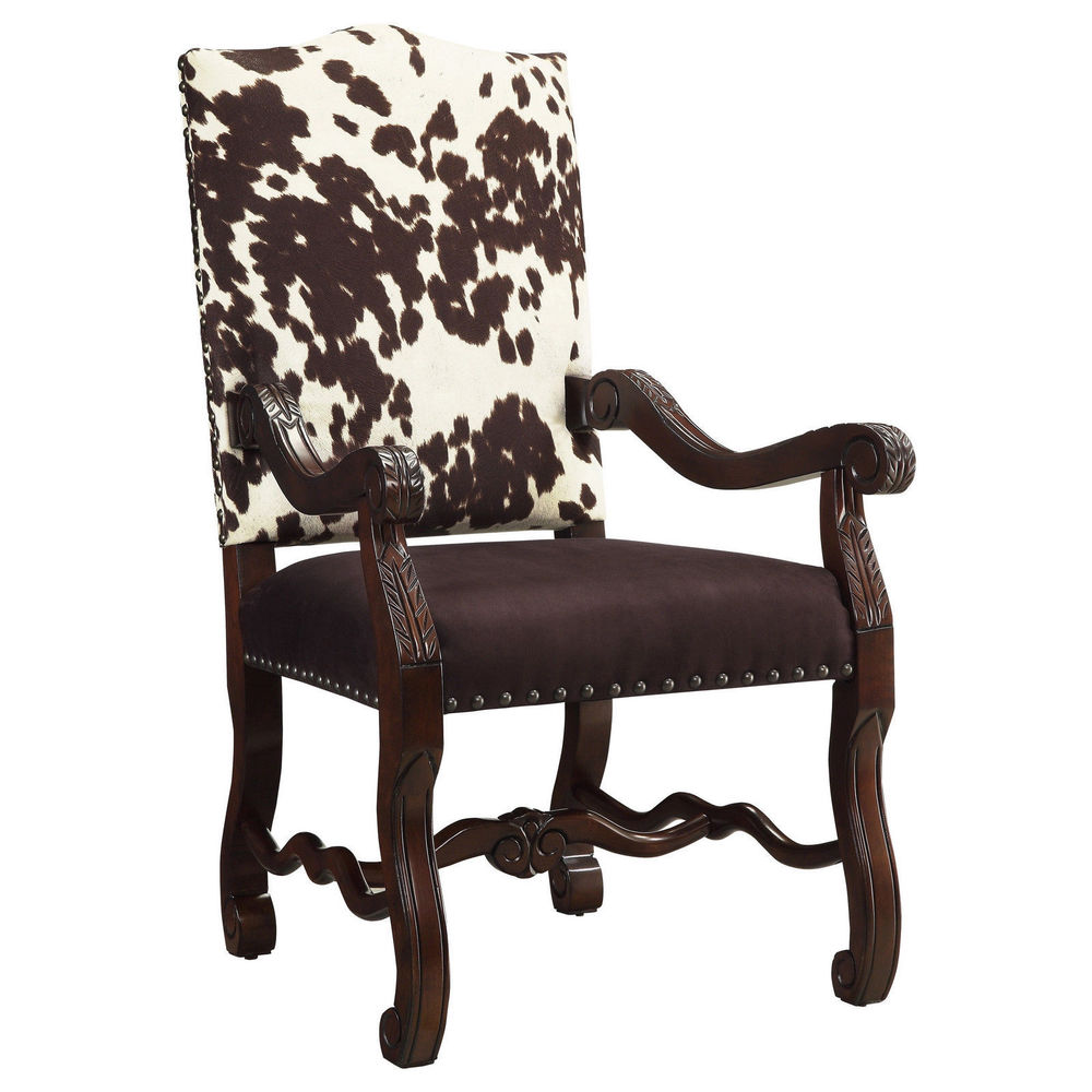 cow print chair