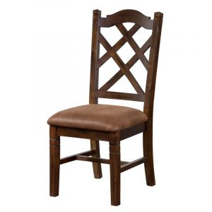 cross back dining chair l