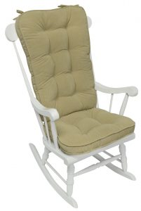 cushion for rocking chair greendale home fashions jumbo rocking chair cushion set hyatt fabric cream rocking chair accessory