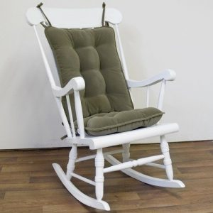 cushion for rocking chair greendale home fashions standard cherokee solid rocking chair cushion set in sage