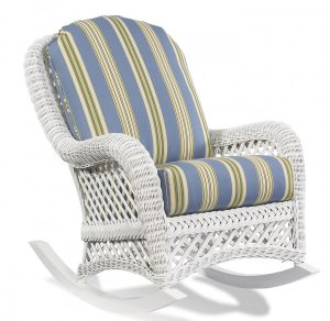 cushion for wicker chair vintage patio decoration wicker rocking chair cushion blue stripe yellow pattern chair cushion white wicker rocking chair base materials solid wood rocking chair