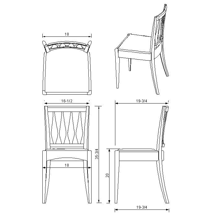 dining chair plans ch line dwg