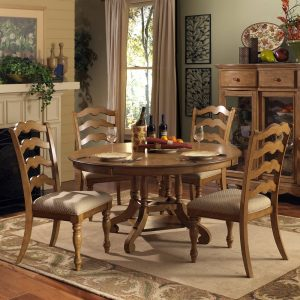 dining chair set hillsdale hamptons piece round dining room set in weathered pine