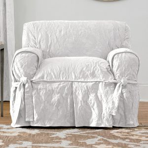 dining chair slipcover matelasse damask white chair
