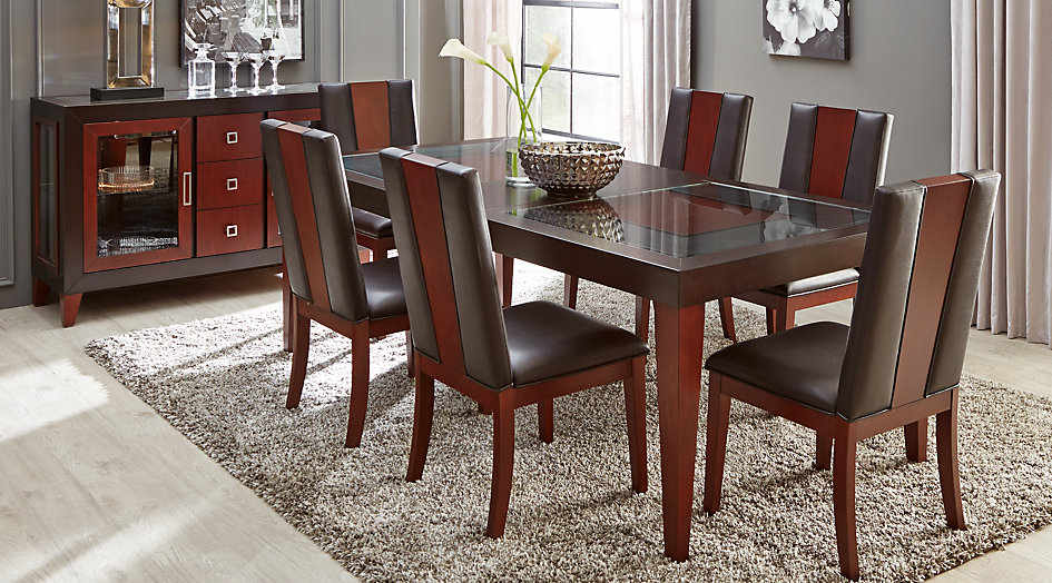 dining side chair dr rm savona brown~sofia vergara savona chocolate pc rectangle dining room