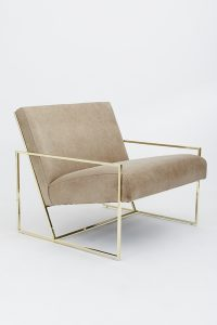 dining side chair thinframeloungechairpolishedbrass