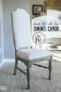 diy dining chair knock off no sew dining chair
