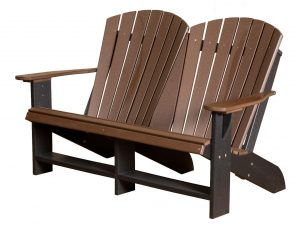 double adirondack chair poly furniture poly heritage collection lcc double adirondack chair