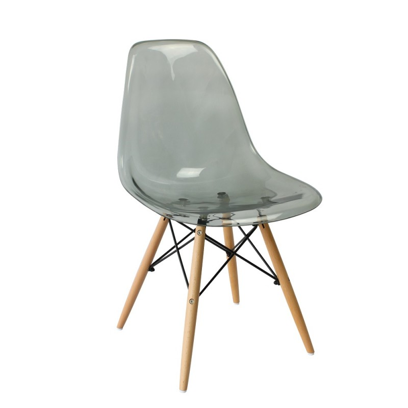 eames style chair eames dsw style chair clear smokey grey