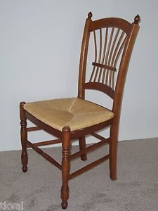 ethan allen chair ethan allen casual dining wheat backside chair rush seat