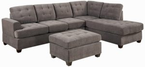 extra wide chair sectional grey microfiber couch