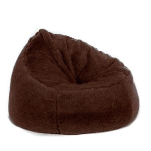 faux fur bean bag chair beanbag chair faux fur brown bear long pile