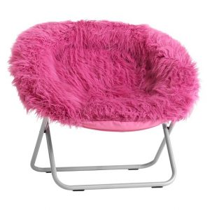 faux fur butterfly chair deep pink fur rific faux fur hang a round chair c