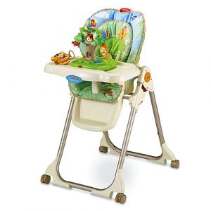 fisher price easy fold high chair w rainforest healthy care high chair d