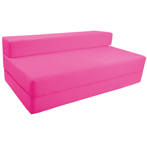 foam chair bed fuchsia double