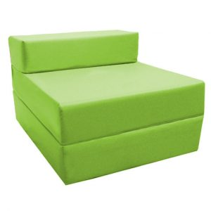foam chair bed lime