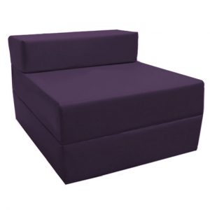 fold bed chair purple