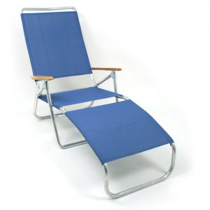 folding chase lounge chair tel cobalt