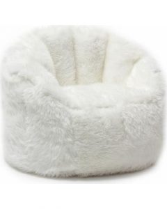fur bean bag chair beansack big joe milano faux fur bean bag chair off white size large