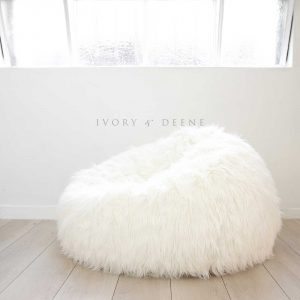 fur bean bag chair cream lush fur beanbag copy