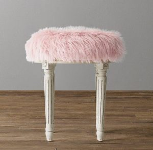 fur chair target vintage faux fur french pink stool