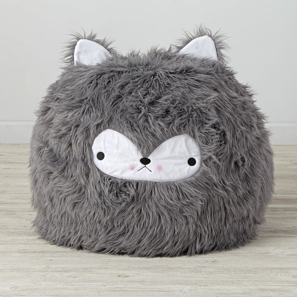 furry bean bag chair