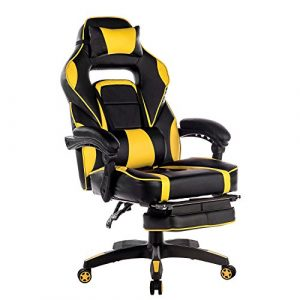 gaming chair with footrest ygksukmwl