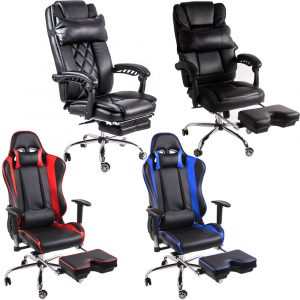 gaming chair with footrest i