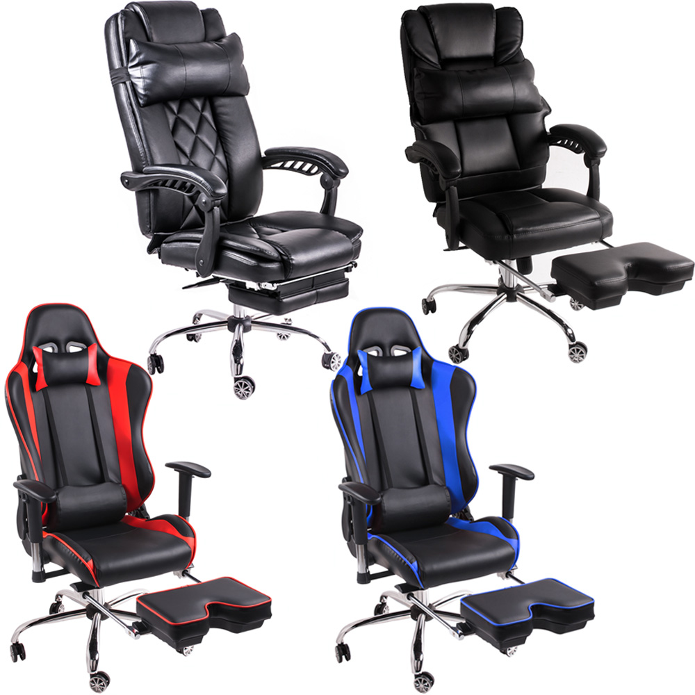 gaming chair with footrest