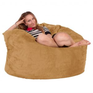 giant bean bag chair lounge lizard massive memory foam bean bag round bac c ad bcea x