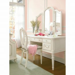 girl table and chair furniture white polished wooden three fold mirror make up table combined with white wooden armless chair white wood vanity mirror x