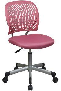 girls desk chair office star modern armless kids pink task chair
