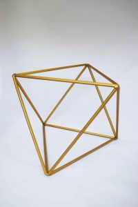 gold chair covers gold geometric large sphere