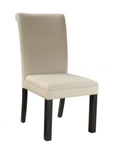 gray parsons chair standard furniture gateway grey parsons chair in dark chicory brown