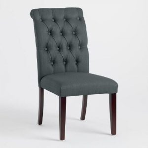 gray tufted dining chair xxx v