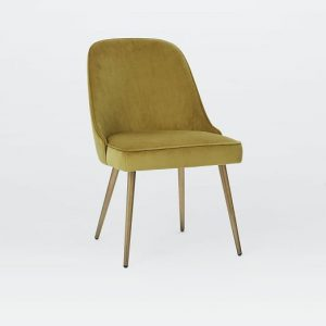 gray velvet chair mid century upholstered dining chair velvet c