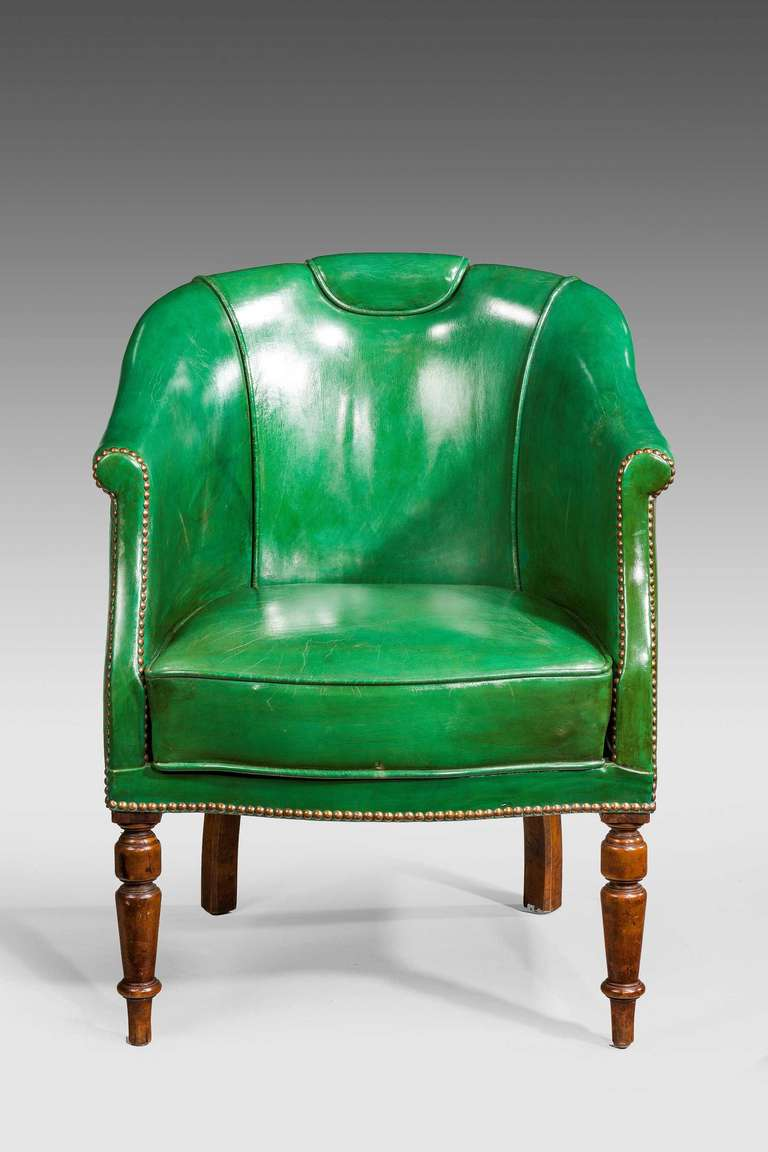 green leather chair apr l