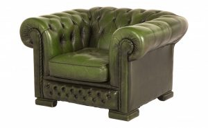 green leather chair hg