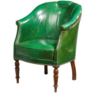 green leather chair org apr l