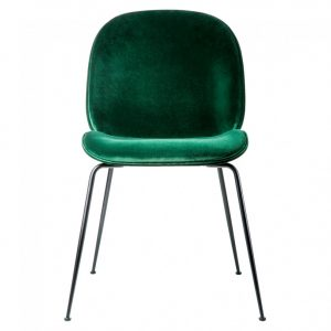 green velvet chair