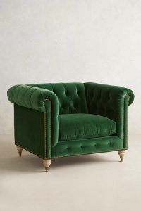 green velvet chair greenvelvet