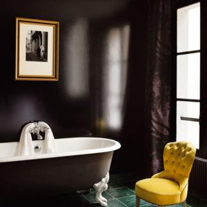 grey and yellow accent chair black bathroom colors