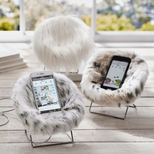 hang a round chair faux fur mini hang a round phone chair c