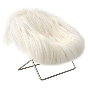 hang around chair faux fur mini hang a round phone chair c