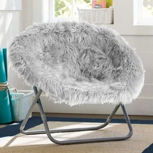 hang around chair gray fur rific hang a round chair c