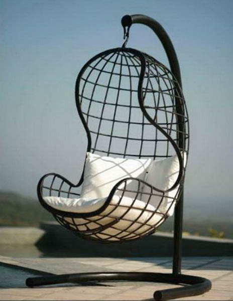 hanging chair outdoors